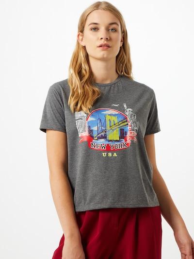 Trendyol Majica   svetlo modra / rumena / grafit / rdeča / črna / bela barva: Frontalni pogled