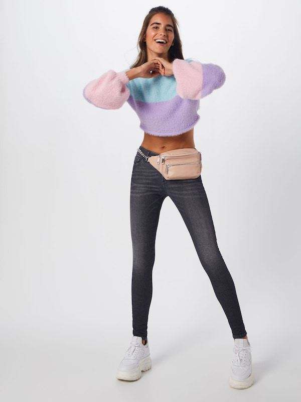 Colourblock BleuViolet Rose Pull over En Balloon Sleeve' Missguided 'fluffy zqGVpSUML