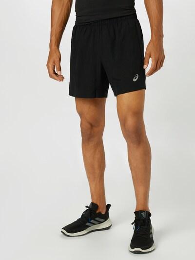 ASICS Športové nohavice - čierna / biela, Model/-ka