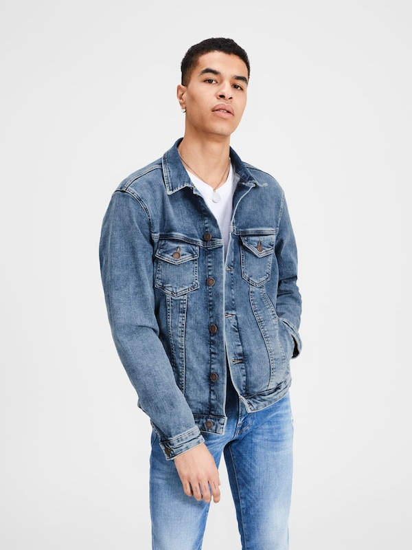 JACK & JONES Jeansjacke 'JJIALVIN JJJACKET CR 043' in blue denim, Modelansicht