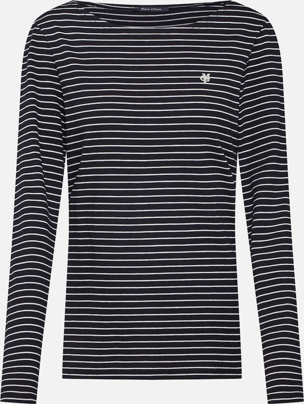 O'polo En shirt Marc T CrèmeNoir Klc1TFJ3