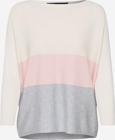 VERO MODA Džemperis 'VMNELLIE GLORY' pieejami pelēks / rožkrāsas / balts, Preces skats