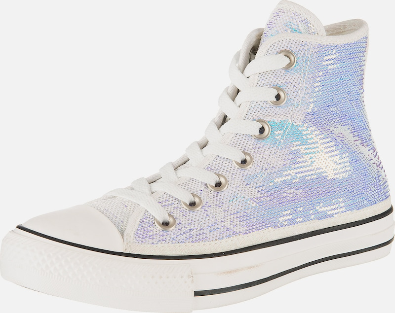 CONVERSE Sneakers High 'Chuck Taylor All Star' in silber: Frontalansicht