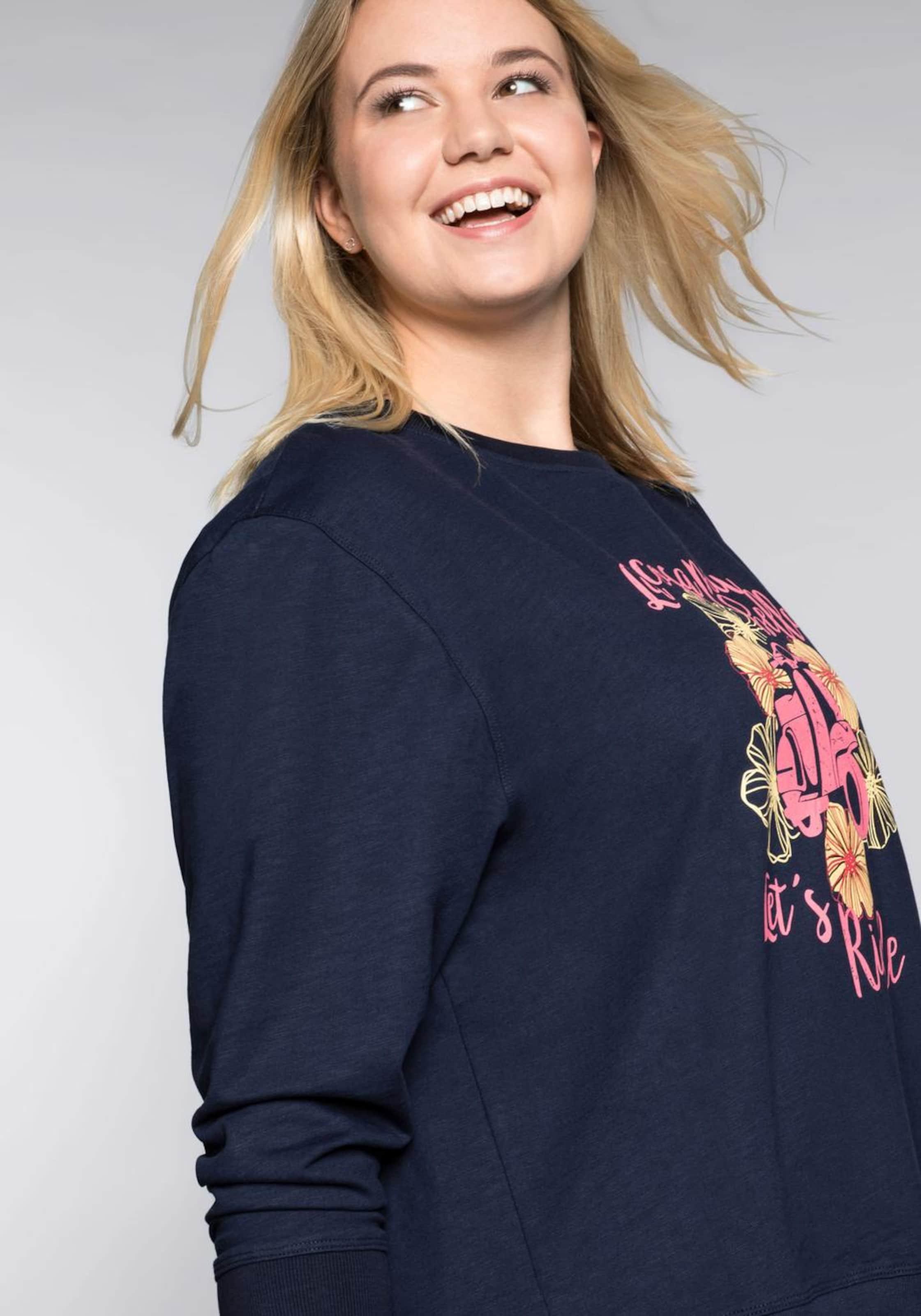 Sweatshirt MarineGold Sheego In Sweatshirt Pink Sheego FKJuTc3l51