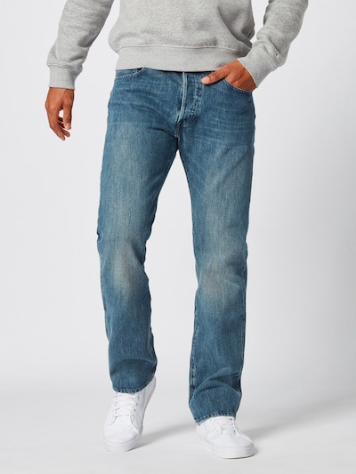 LEVI'S Jean '501 ORIGINAL FIT' en bleu denim: Vue de face