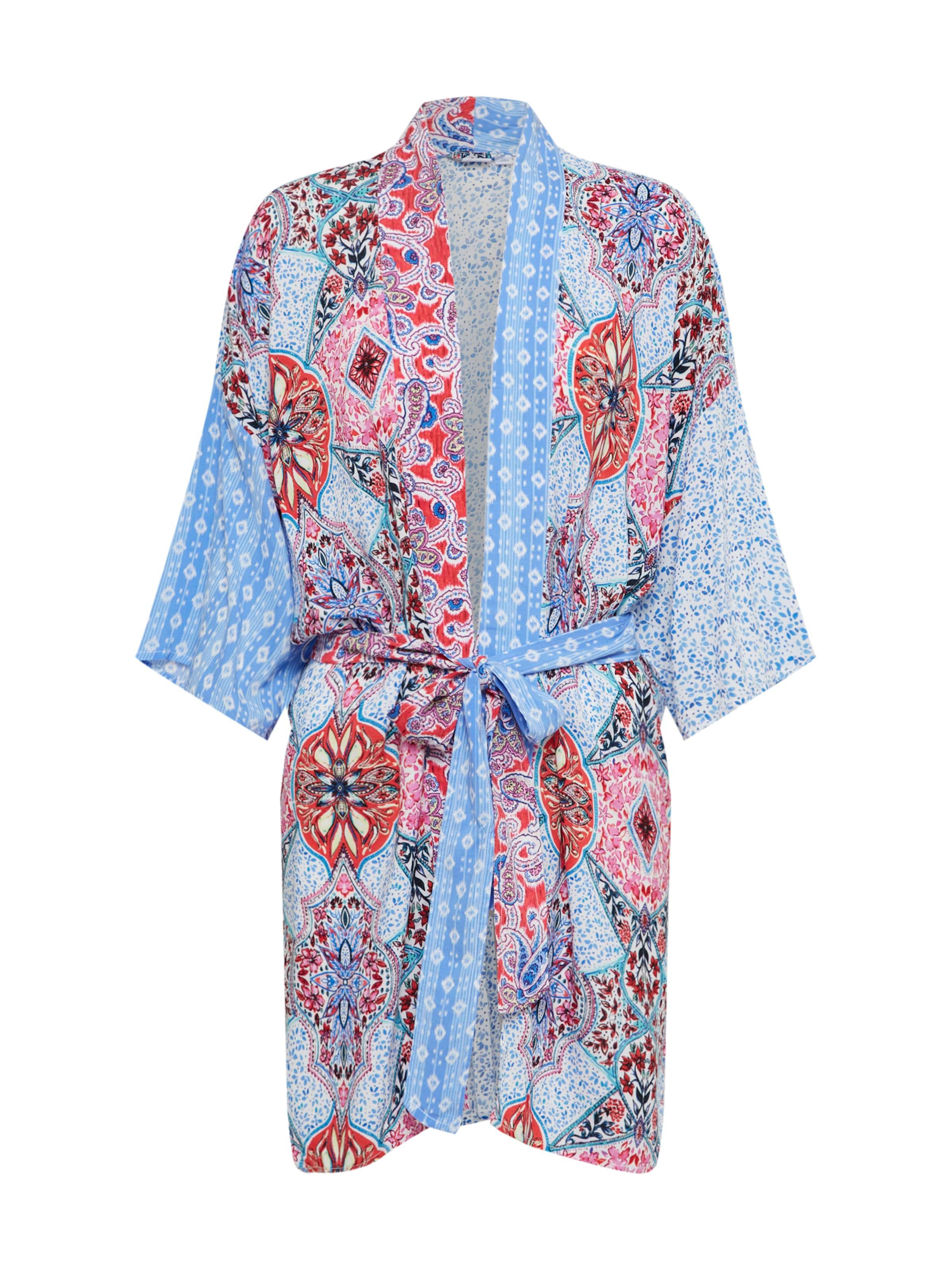 BlauwPink Rood 'rayon' Gap Kimono In SpMVGzqU