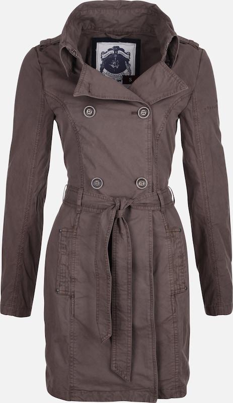 DREIMASTER Trenchcoat in schlammfarben  Markenkleidung für Männer und Frauen