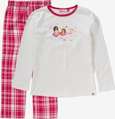 LEGO WEAR Schlafanzug 'FRIENDS' für Mädchen in pink / weiß, Produktansicht