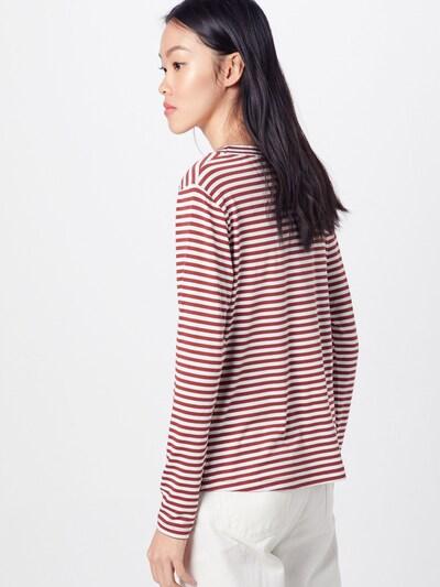 Marškinėliai 'Mariam' iš ABOUT YOU , spalva - ruda / balta: Vaizdas iš galinės pusės