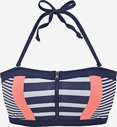 KangaROOS Bikinitop in navy / apricot / weiß, Produktansicht