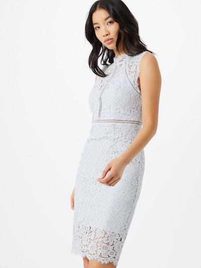 Bardot Kleid in hellblau, Modelansicht