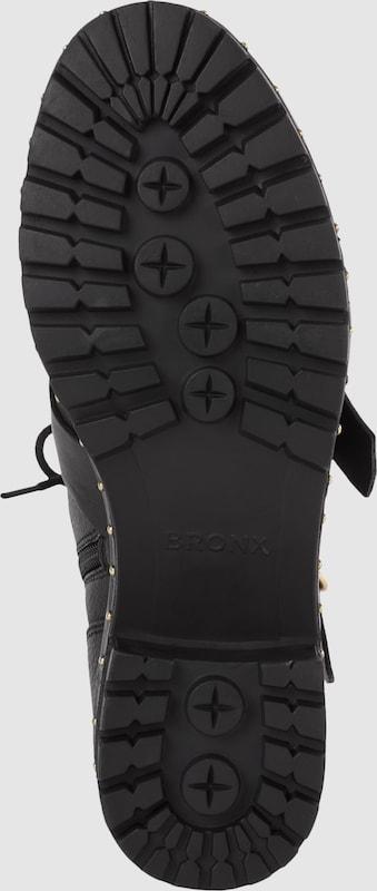 BRONX Schnürboot mit Schnallen und Ziernieten