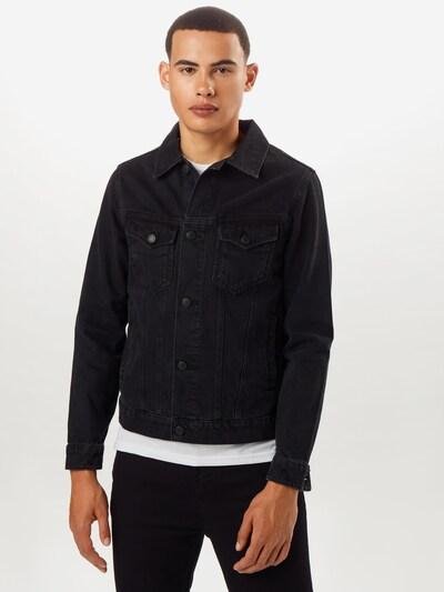 BURTON MENSWEAR LONDON Jacke 'BLACK DENIM  JACKET' in schwarz: Frontalansicht