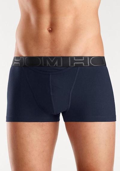 HOM Boxershorts 'Boxerlines Basic' in de kleur Navy / Antraciet, Modelweergave