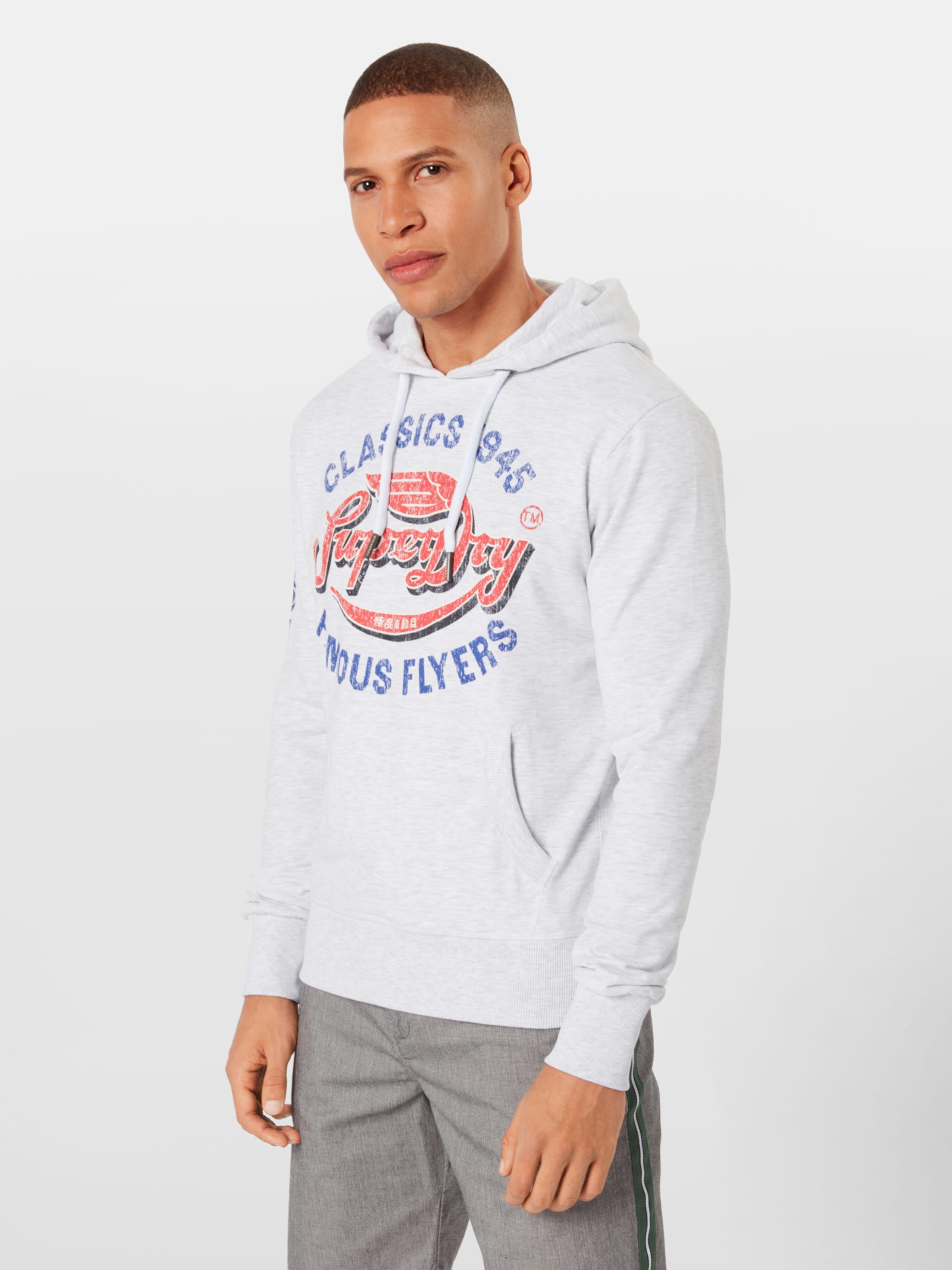 In Lite' BlauHellgrau Flyers Rot Superdry Sweatshirt 'famous cARL3qS54j