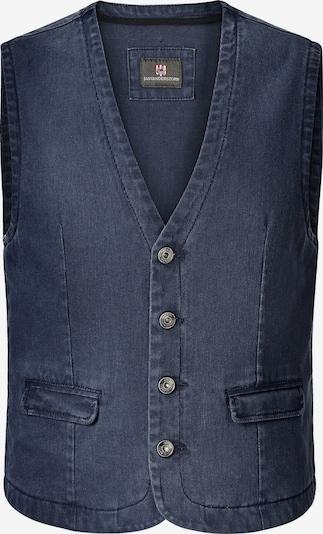 Jan Vanderstorm Bodywarmer 'Torell' in de kleur Blauw denim, Productweergave