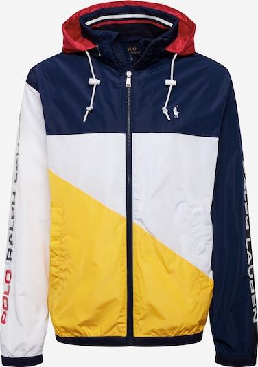 POLO RALPH LAUREN Prehodna jakna 'PACE FULLZIP-LINED-JACKET' | modra / rumena / bela barva, Prikaz izdelka