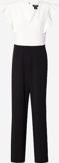 DKNY Combinaison 'V-Neck Ruffle Cap Sleeve Jumpsuit' en noir / blanc, Vue avec produit