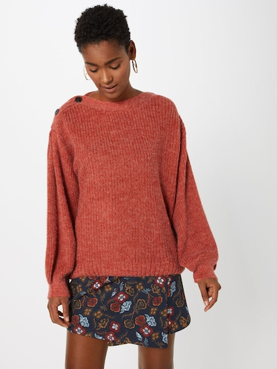 Pepe Jeans Strickpullover 'DINA' in pastellrot, Modelansicht