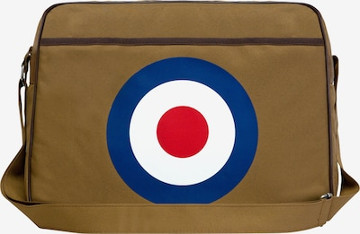 LOGOSHIRT Tasche 'Target' in blau / braun / rot, Produktansicht