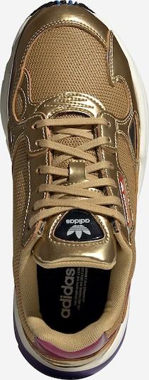 ADIDAS ORIGINALS Sneaker 'Falcon' in gold / weiß: Draufsicht