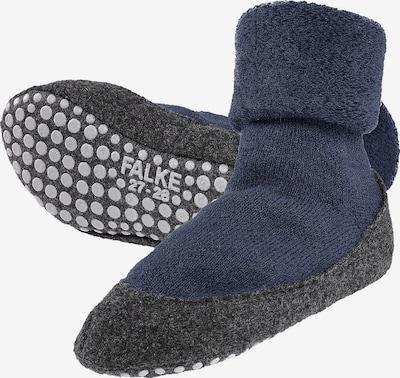 FALKE Chaussettes en bleu foncé / gris chiné, Vue avec produit