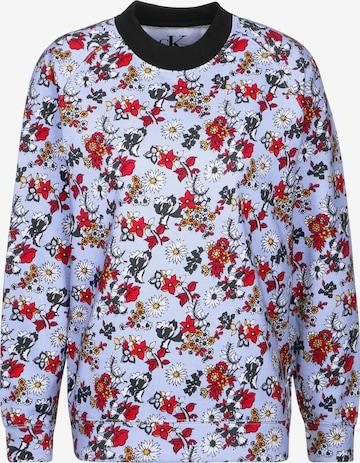 Calvin Klein Sweatshirt 'Hatta Flower AOP HWK' in Blue