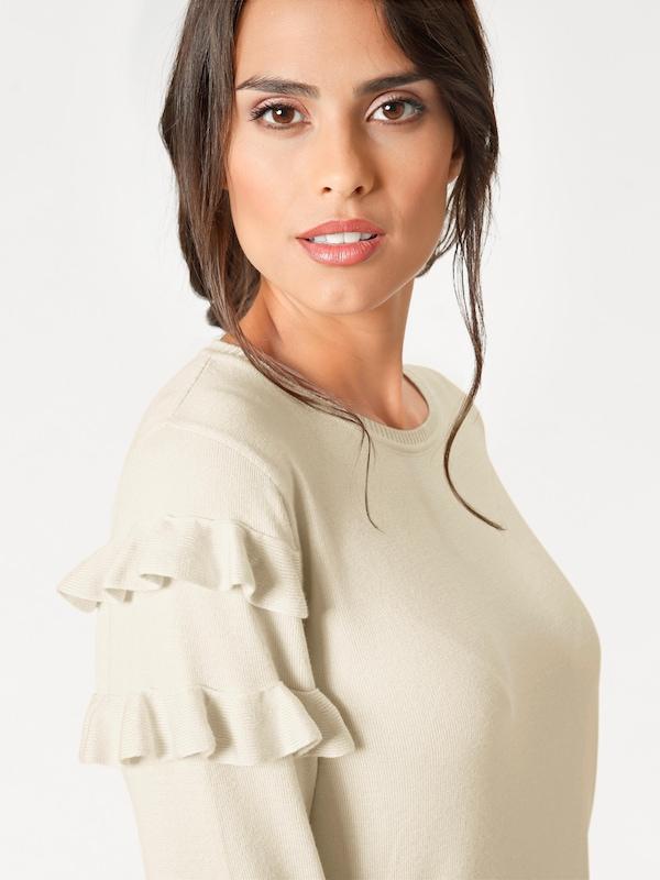 Ashley Brooke by heine Rundhalspullover mit Rüschen