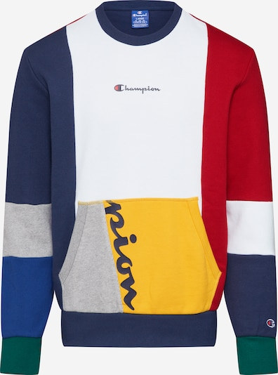 Champion Authentic Athletic Apparel Mikina 'Crewneck Sweatshirt' - námornícka modrá / červené / biela, Produkt