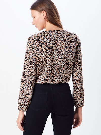 Bluză 'DANNA' ONLY pe crem / negru: Privire spate