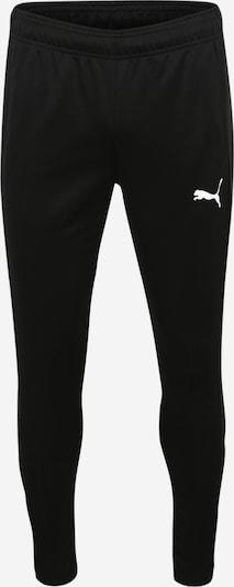 PUMA Pantalon de sport en noir / blanc: Vue de face