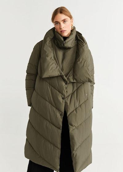 MANGO Mantel in khaki, Modelansicht