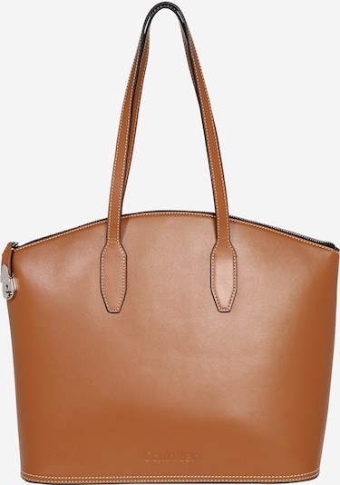 Calvin Klein Shopper 'LOCK DOMED SHOPPER' in de kleur Bruin, Productweergave