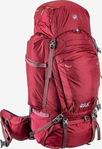 JACK WOLFSKIN Sports Backpack 'Denali 65 wmn' in Red