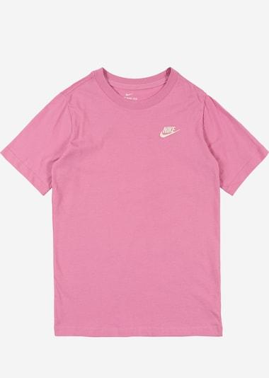 Nike Sportswear Tričko - ružová / biela: Pohľad spredu