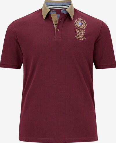 Jan Vanderstorm T-Shirt 'Joakim' en beige foncé / rouge foncé: Vue de face