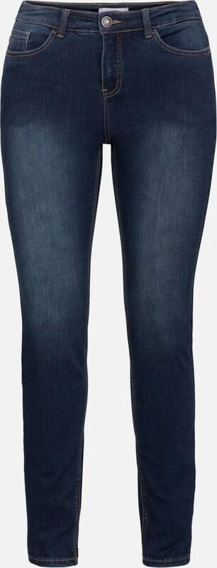 Sheego denim Stretchjeans 'Die 5-Pocket-Jeans' in dunkelblau  Markenkleidung für Männer und Frauen
