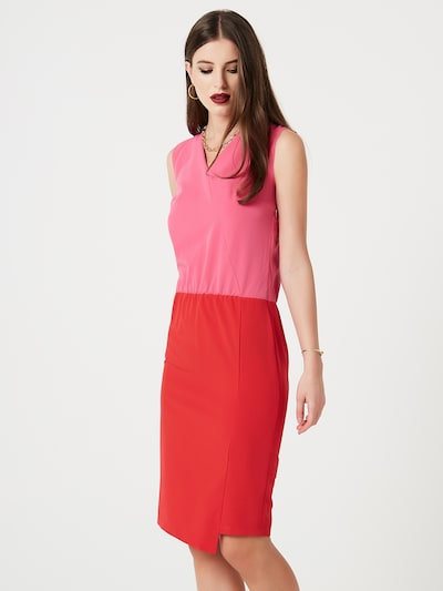 faina Kleid in dunkelpink / orangerot, Modelansicht