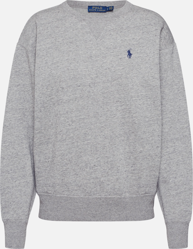 POLO RALPH LAUREN Sweat-shirt 'LS PO-LONG SLEEVE-KNIT' en gris, Vue avec produit