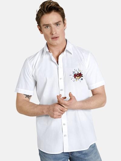 Shirtmaster Chemise 'Popexplosion' en blanc: Vue de face
