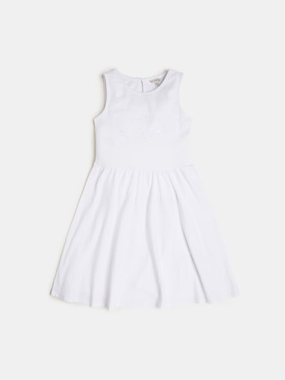 GUESS KIDS Jacquart Kleid in weiß, Produktansicht