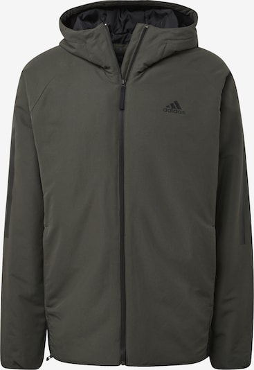 ADIDAS PERFORMANCE Veste de sport 'Back-to-Sports' en vert foncé: Vue de face