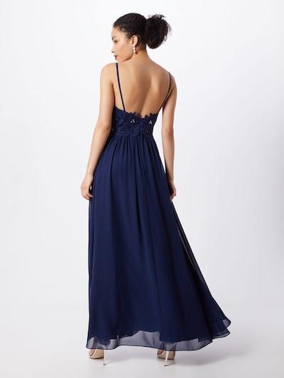 Vakarinė suknelė 'LACE STRINGS' iš mascara , spalva - tamsiai mėlyna: Vaizdas iš galinės pusės
