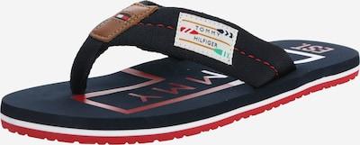 TOMMY HILFIGER Zehentrenner 'Badge' in nachtblau / rot, Produktansicht