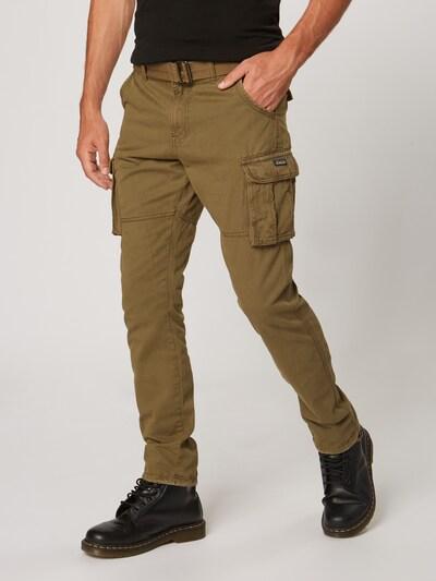 Laisvo stiliaus kelnės 'Villiam' iš INDICODE JEANS , spalva - rusvai žalia, Modelio vaizdas