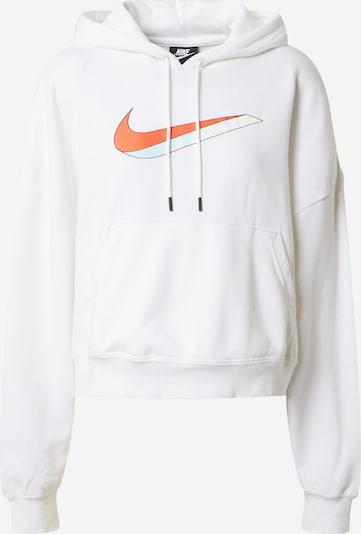 NIKE Športna majica | oranžna / bela barva, Prikaz izdelka