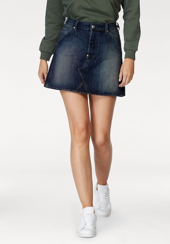 g star raw jeansrock 39 5622 custom a line skirt 39 in blau about you. Black Bedroom Furniture Sets. Home Design Ideas