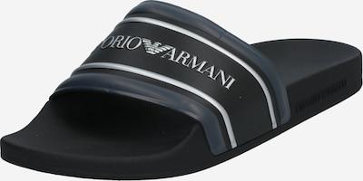 Emporio Armani Pantolette in grau / schwarz / weiß, Produktansicht