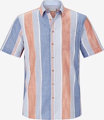 Shirtmaster Kurzarmhemd ' Hotstripes ' in blau / rot, Produktansicht