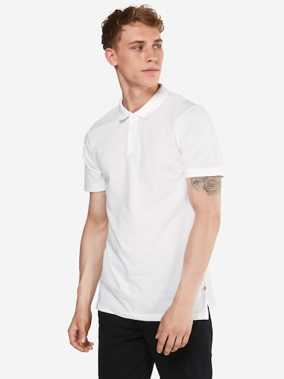 JACK & JONES Poloshirt 'JJEBASIC POLO SS' in weiß, Modelansicht